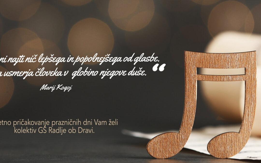 Božična voščilnica GŠ Radlje ob Dravi ter OŠ Ribnica na Pohorju