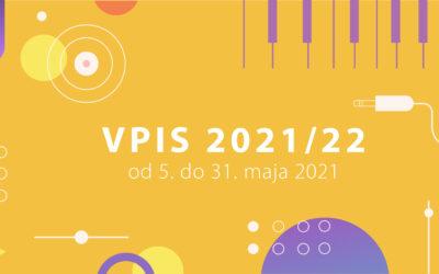 Razpis za vpis v šolsko leto 2021/2022